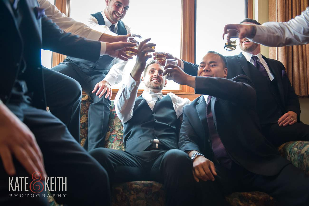Casual and candid groomsmen wedding photography