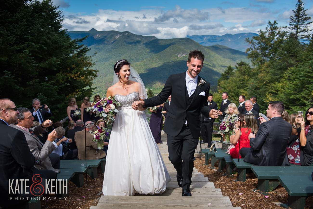 White Mountain top wedding ceremony location.
