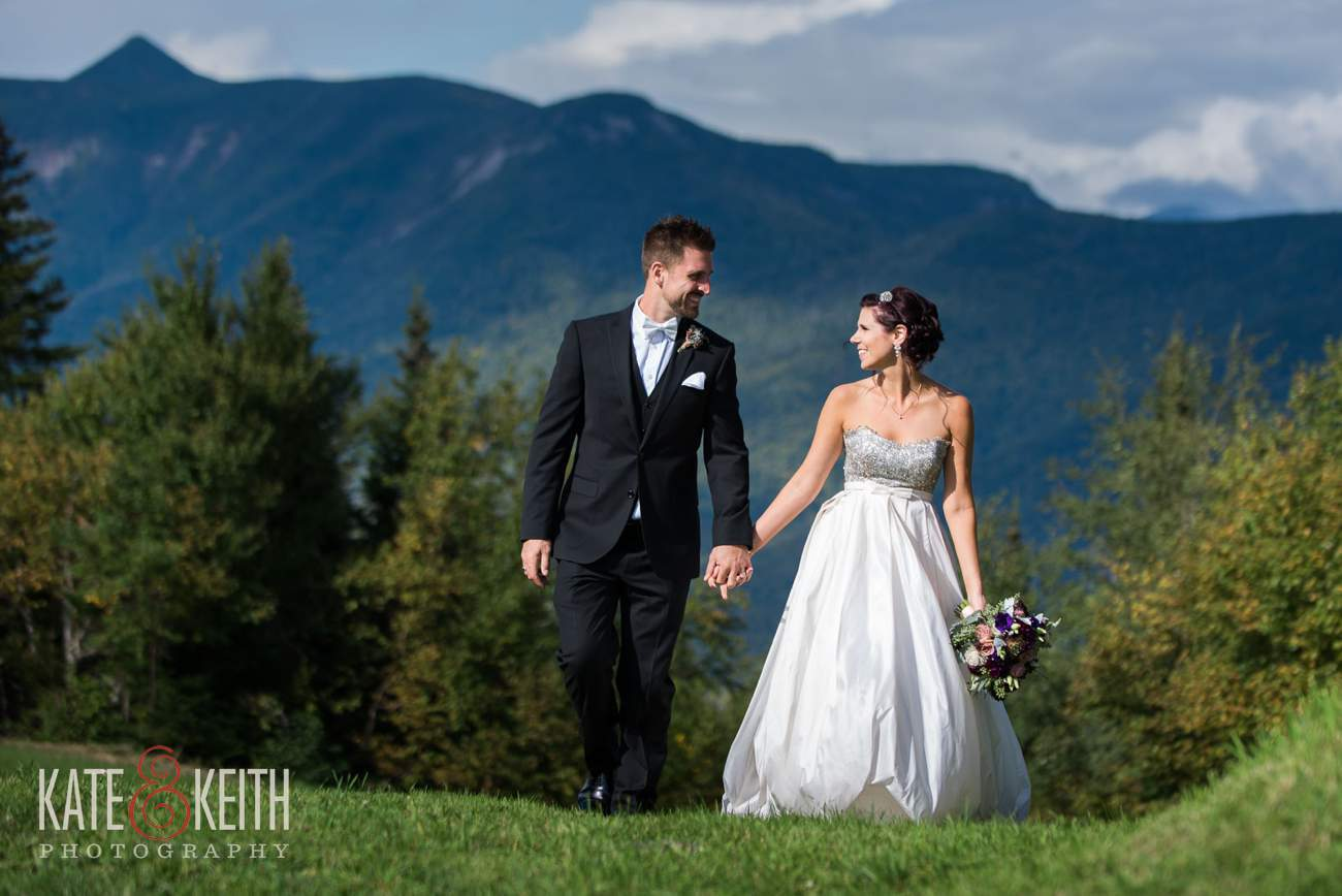 Mountain top wedding photos