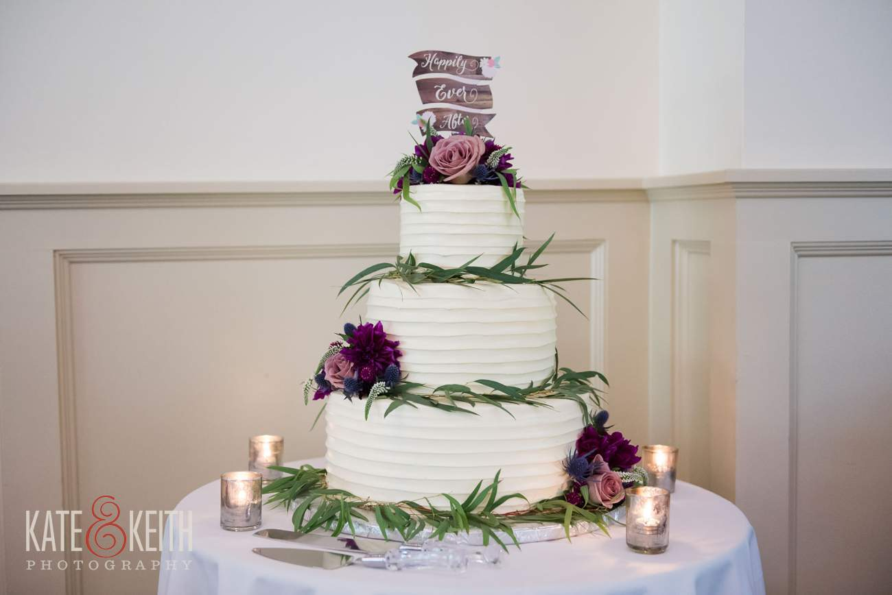 Happily ever after wedding cake idea