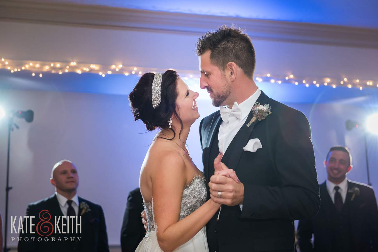 Formal groom and bride first dance