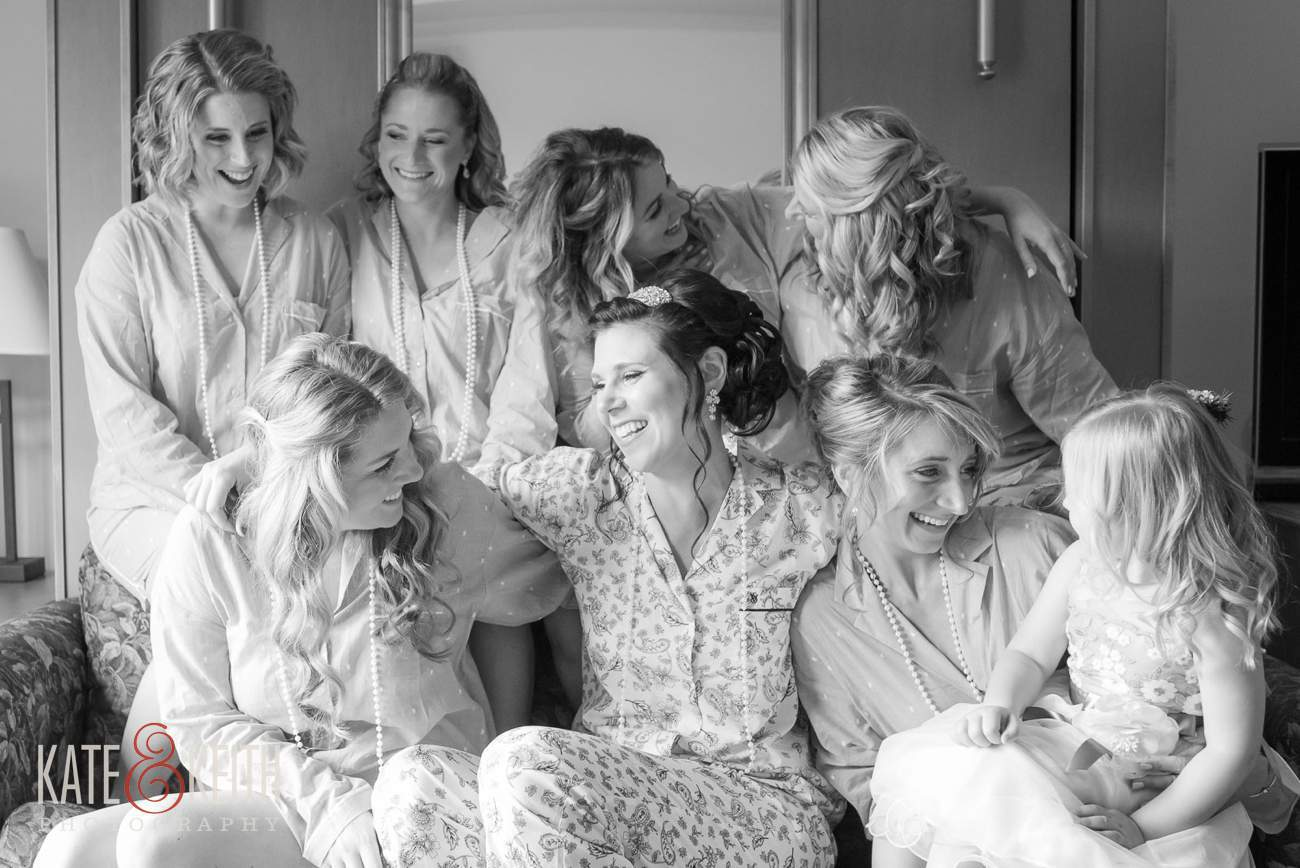 casual and candid bridesmaids wedding photography