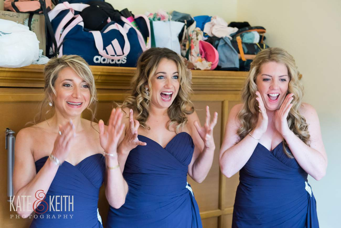 Excited bridesmaids Story telling wedding photography