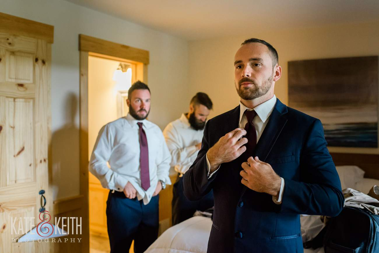 Formal groom prep