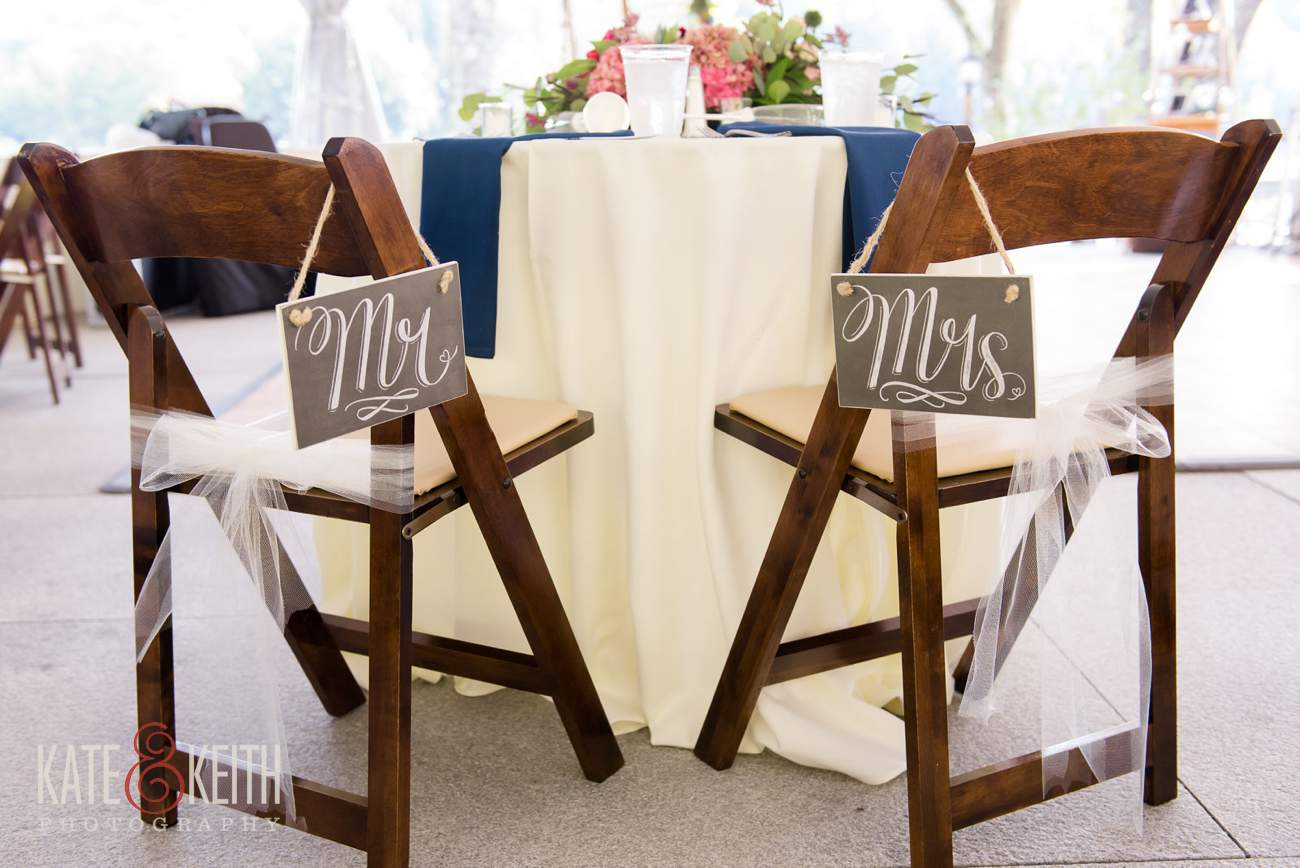 Mr and Mrs wedding chairs