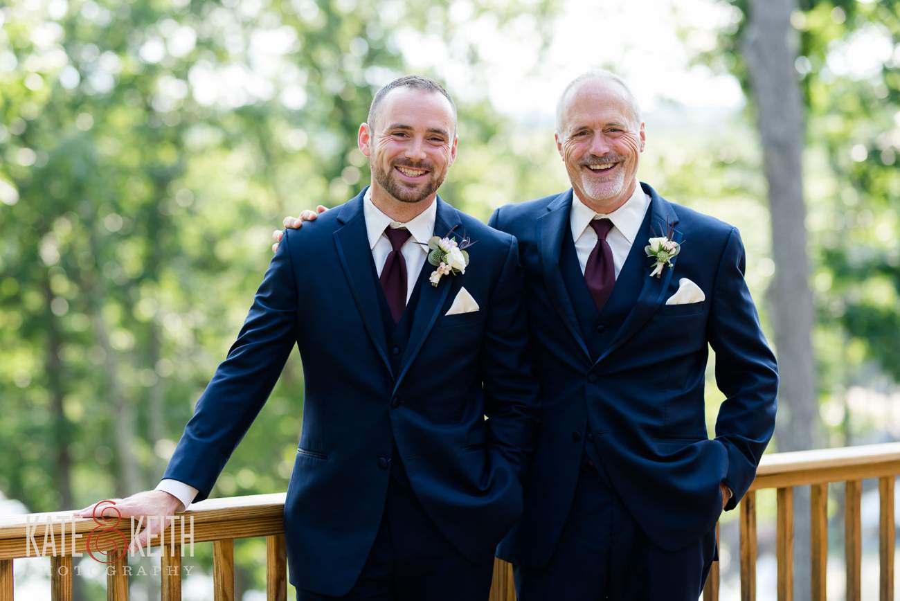 Formal groom and father of groom