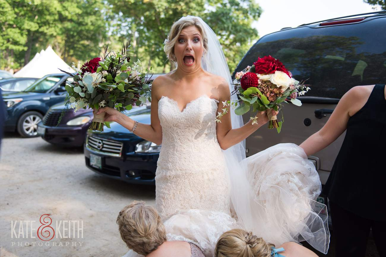 Super surprised bride!