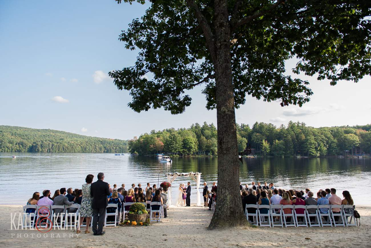 Lake Shore Village Resort wedding ceremony location