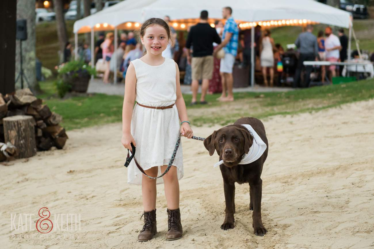 Lakeshore Village Resort Wedding dog