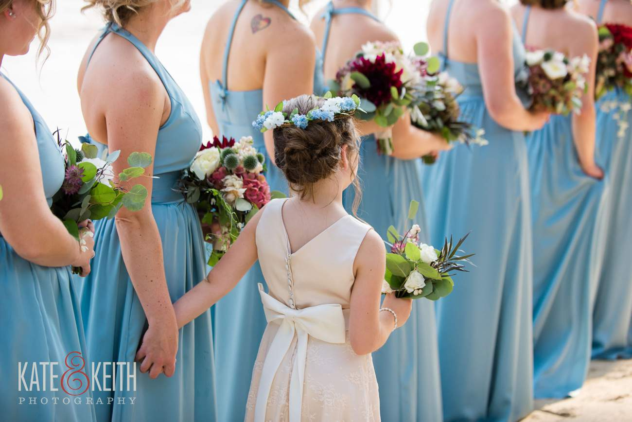 Baby blue bridesmaids
