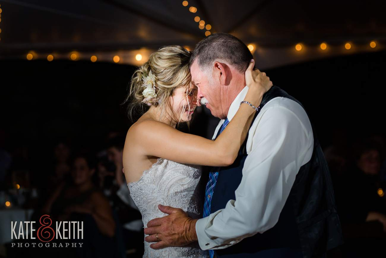 Bride and father emotional first dance photo