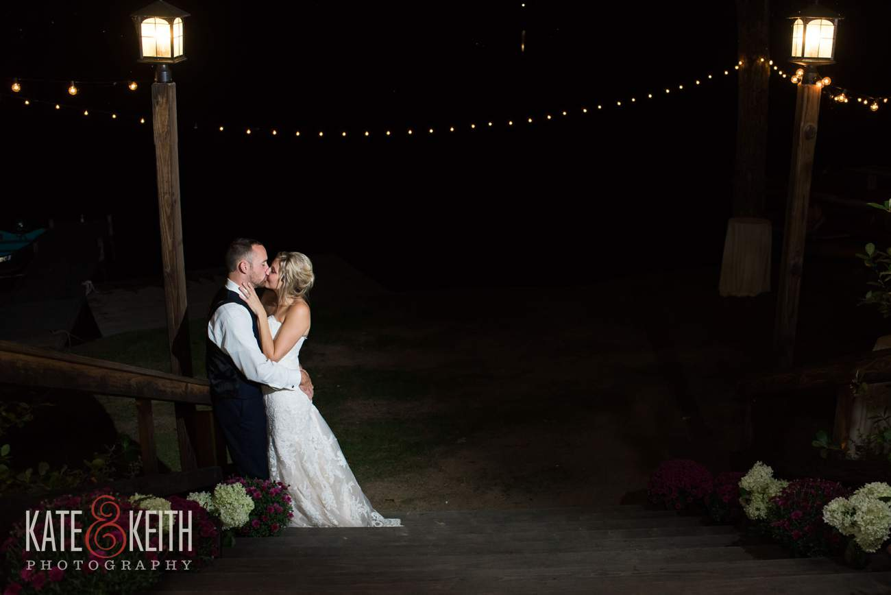 Lake Shore Village Resort Night Wedding