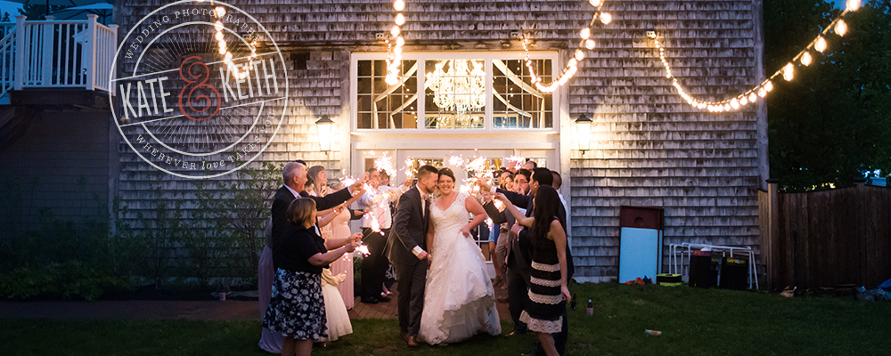 New England sparkler wedding