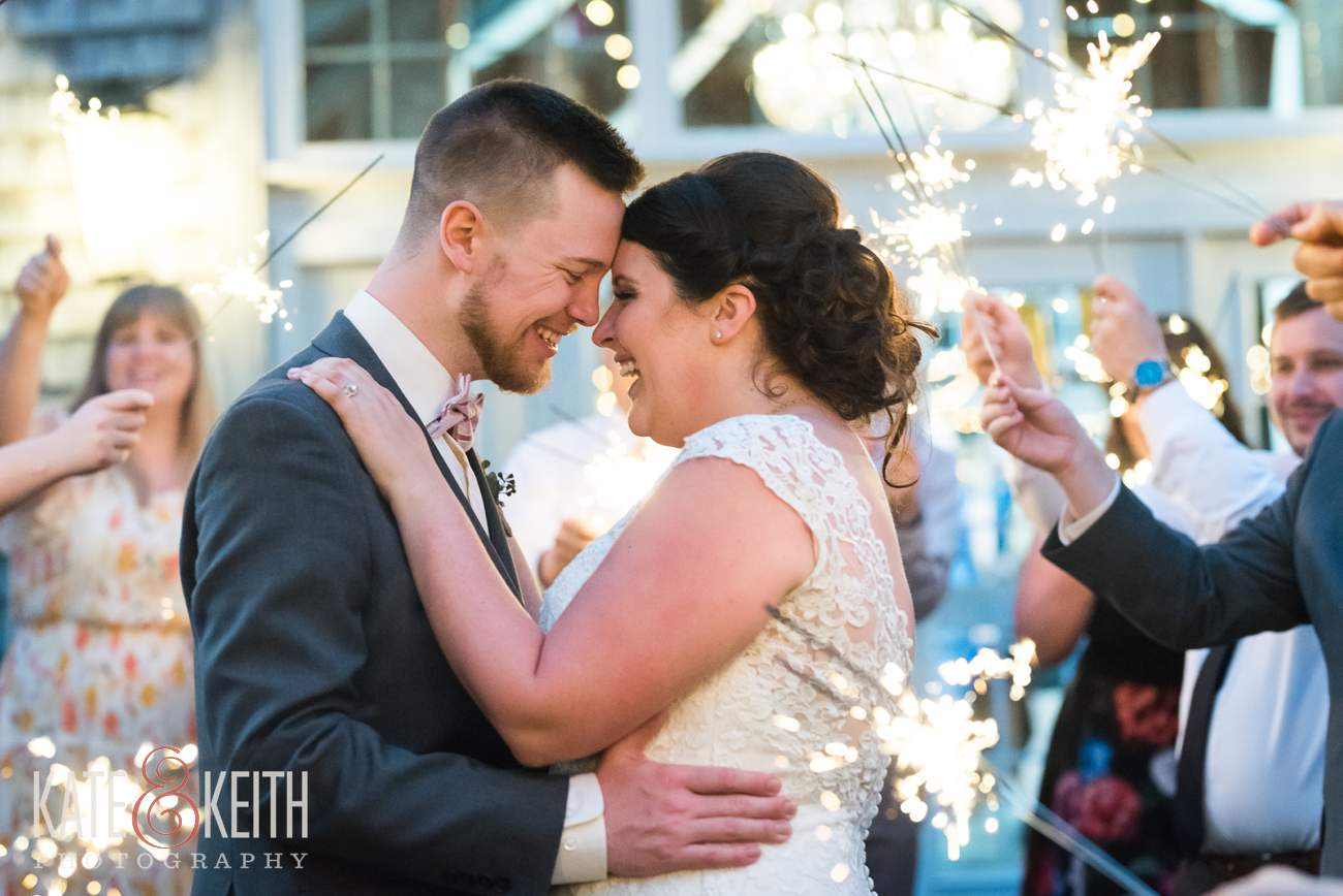 Real Sparkler Exit Wedding