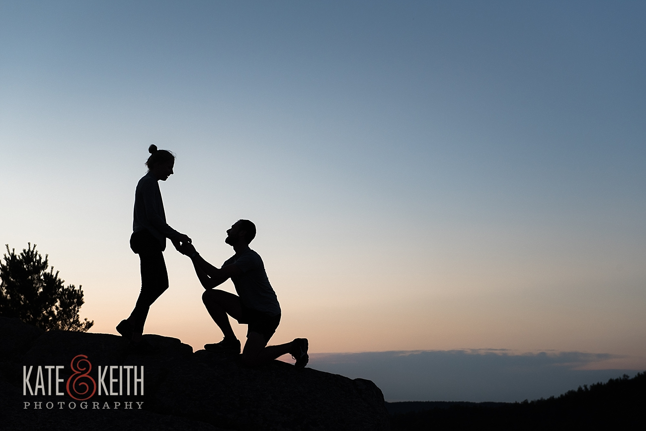 Acadia National Park Sunrise proposal
