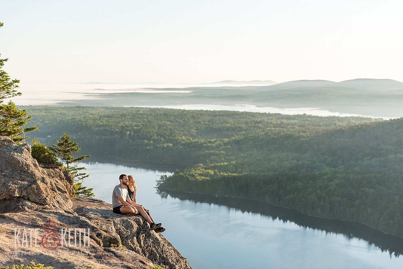 Acadia hiking sunrise Acadia