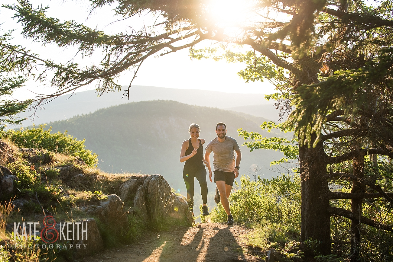 Acadia Sunrise running photo