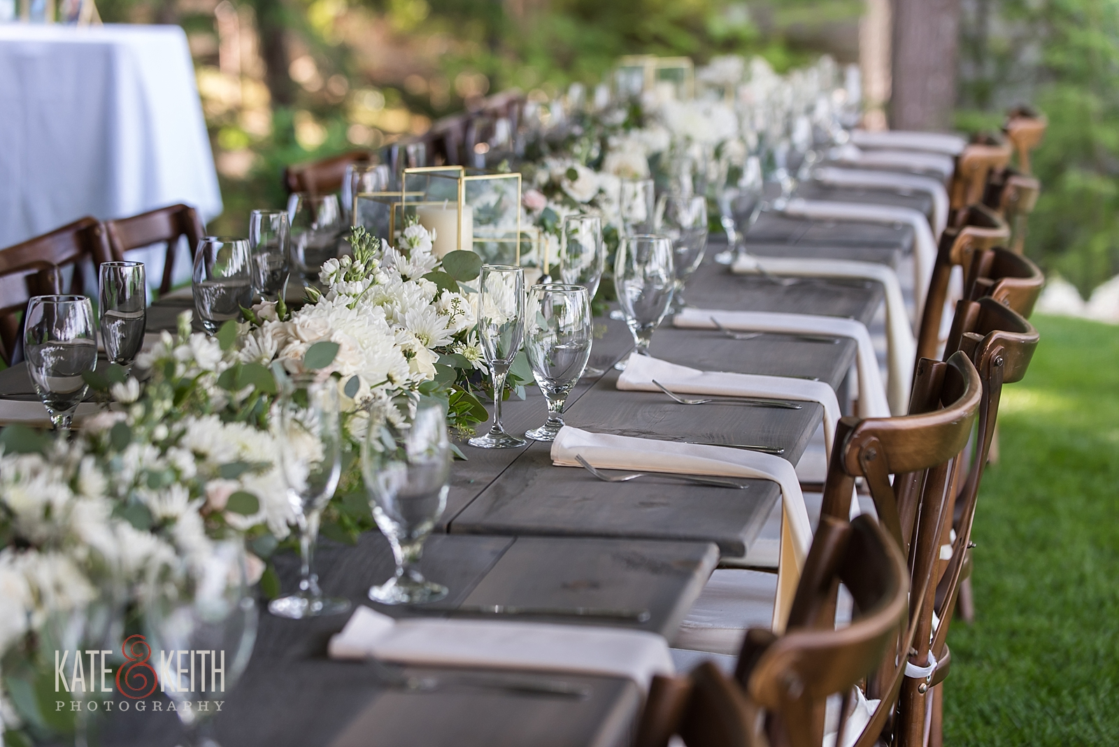 Outdoor wedding table details