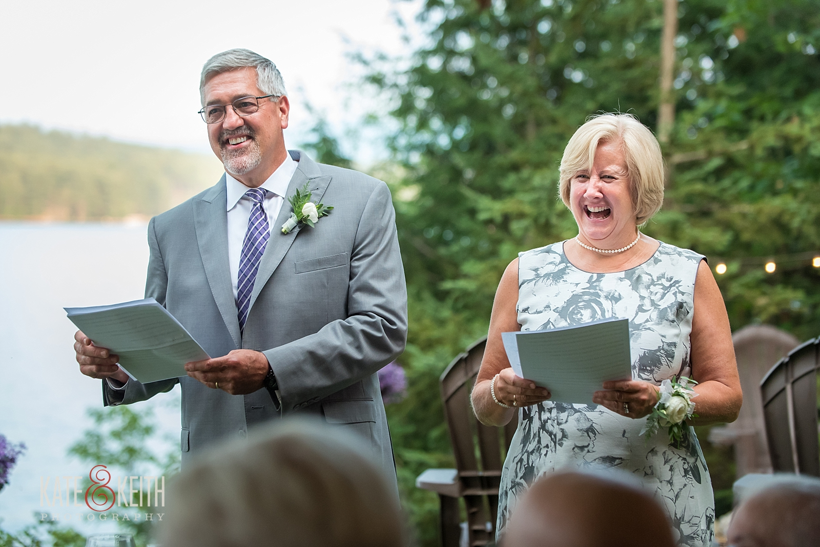 Parents toast wedding