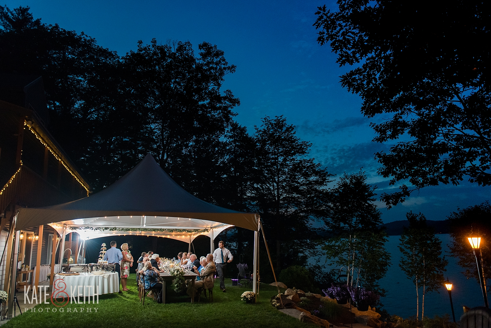 New Hampshire Lake wedding photos