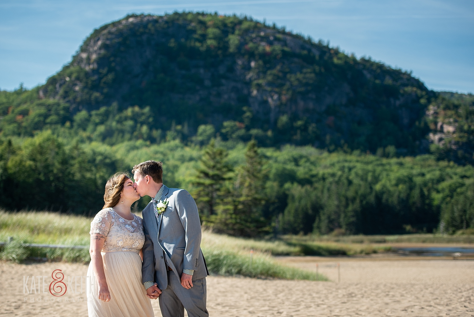 Sand Beach Acadia National Park Wedding
