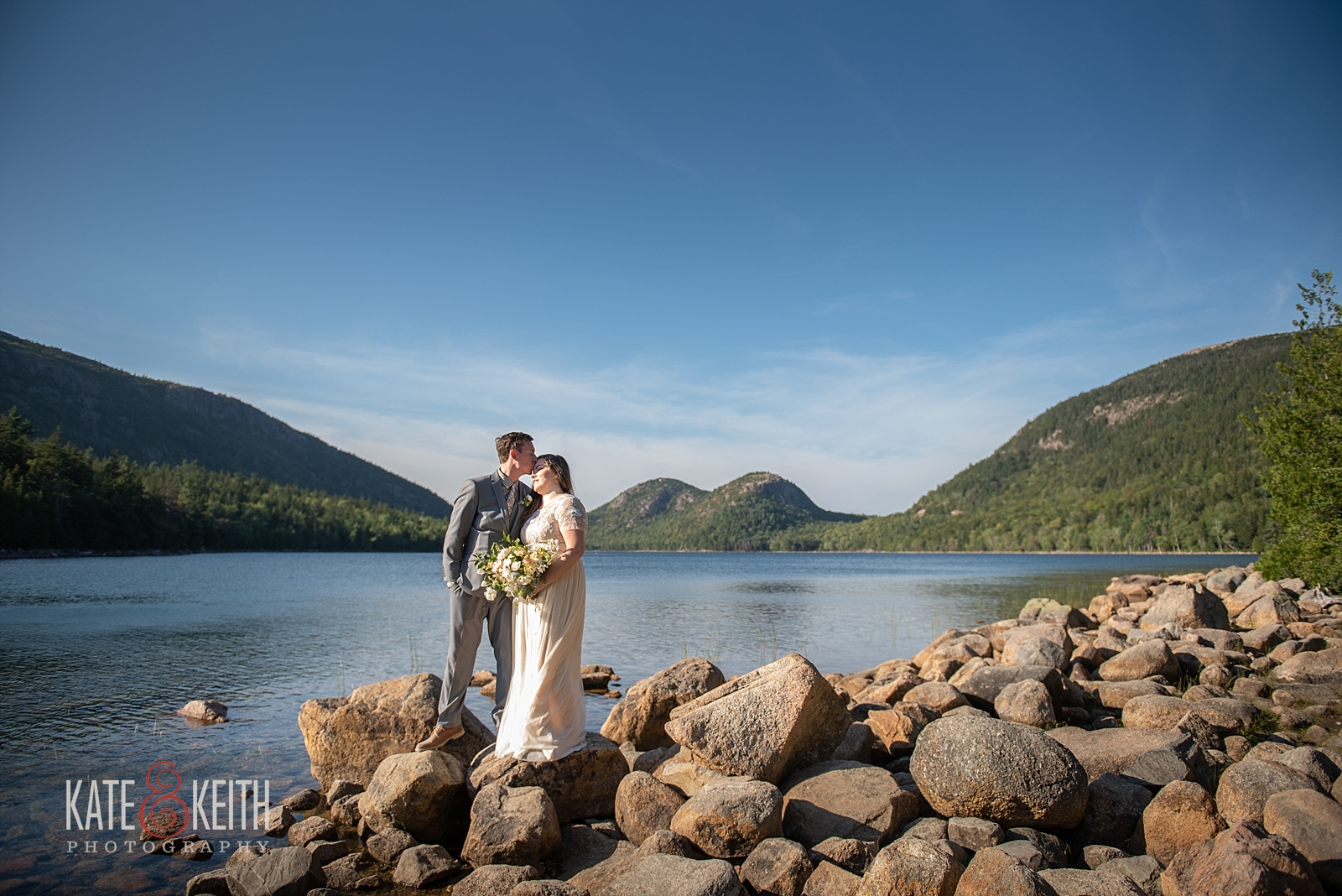 Jordan Pond Acadia National Park Wedding