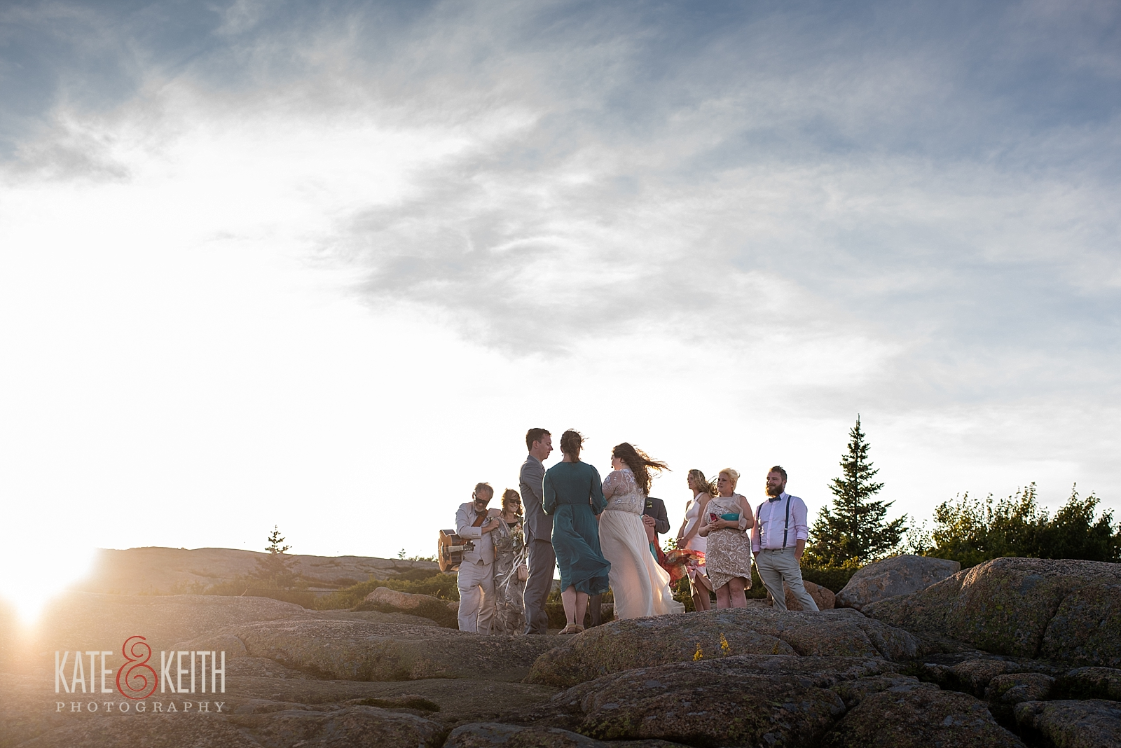 Cadillac Mountain Wedding Ceremony Acadia National Park