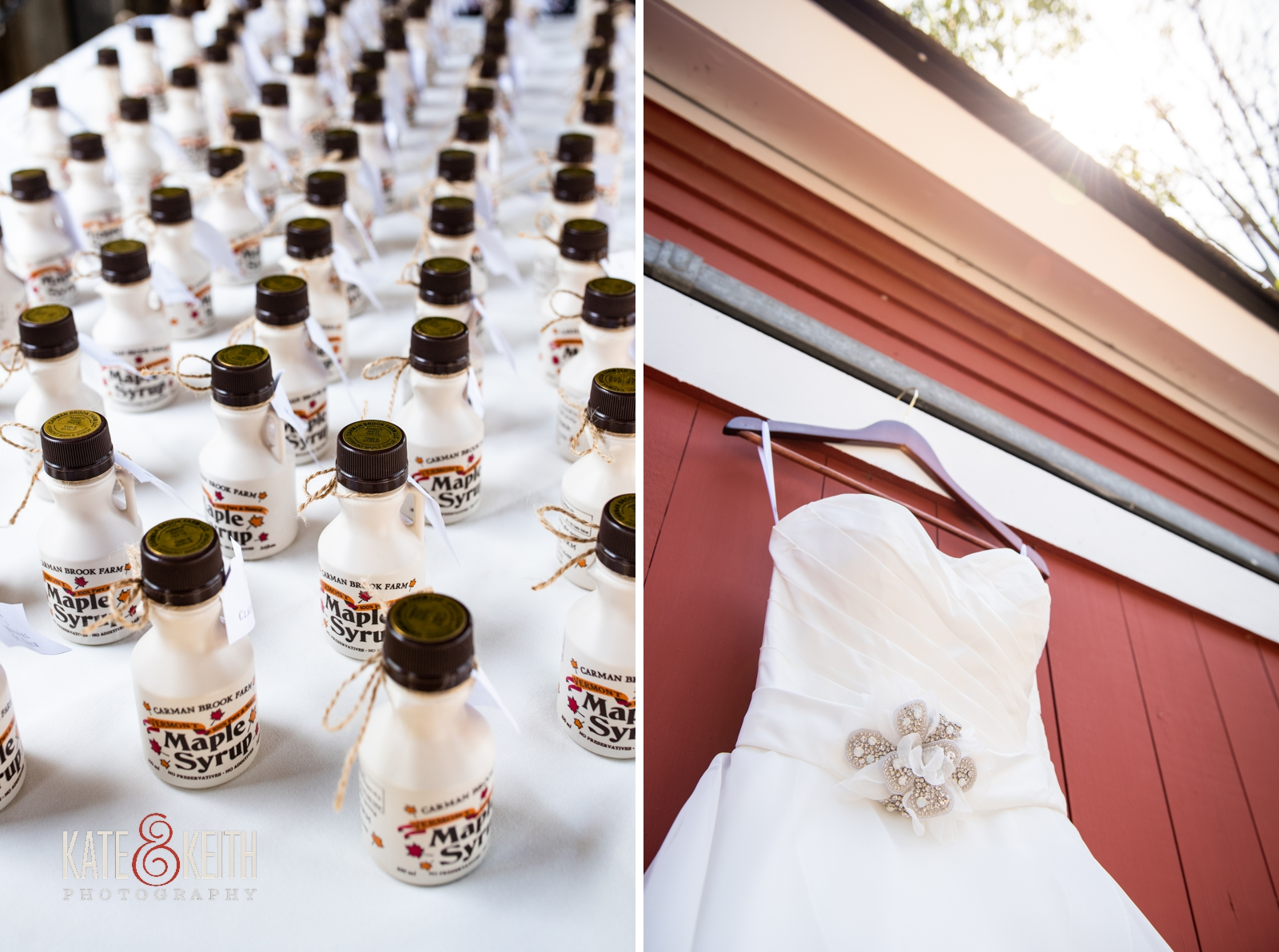 maple syrup wedding favors Vermont Carman Farms