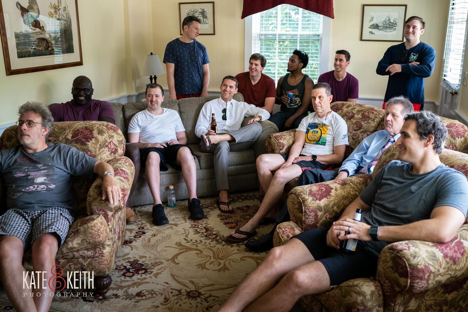 groom getting ready groomsmen relaxing Grafton Inn