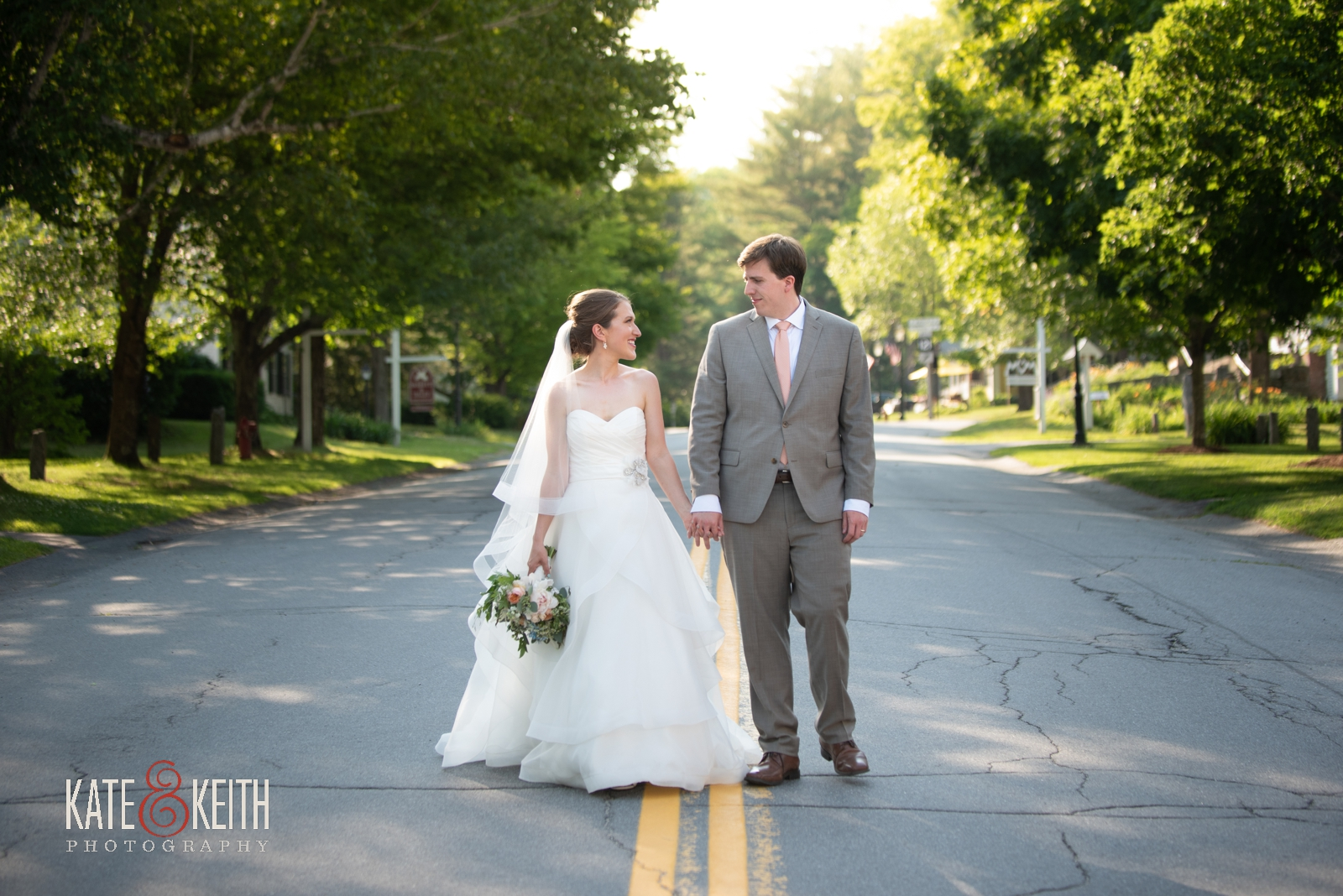 bride and groom in Grafton Vermont