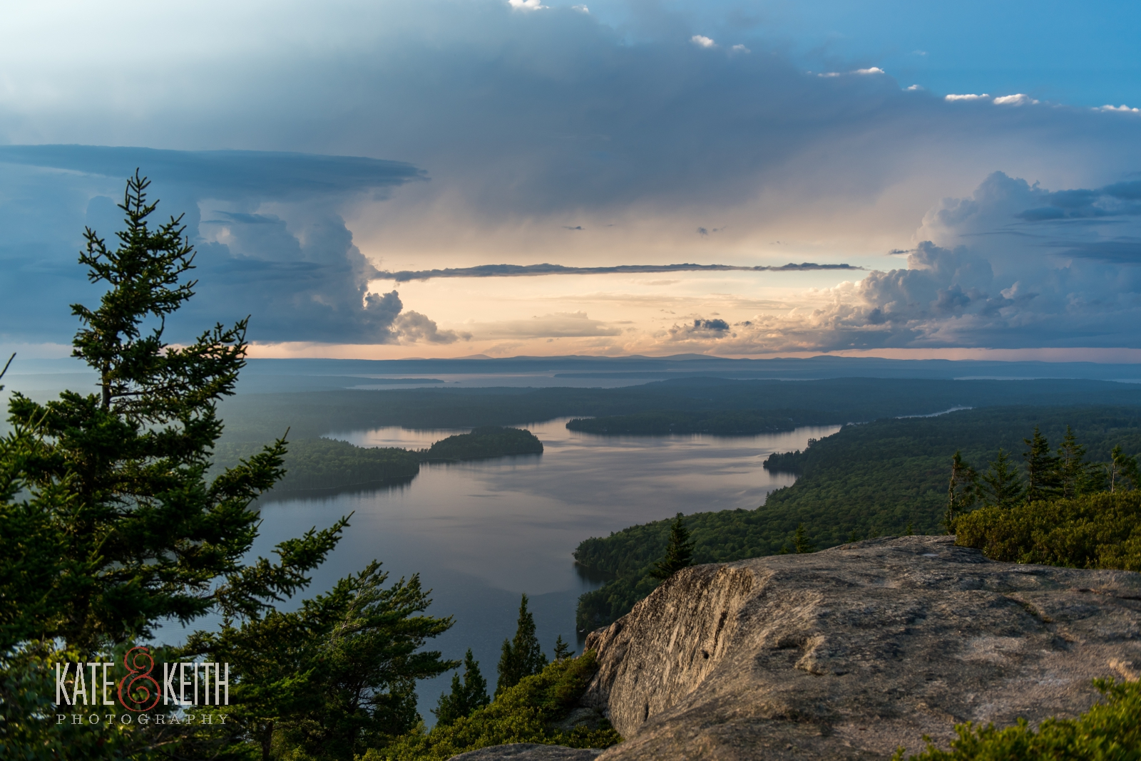 Sunset summer storm Acadia National Park