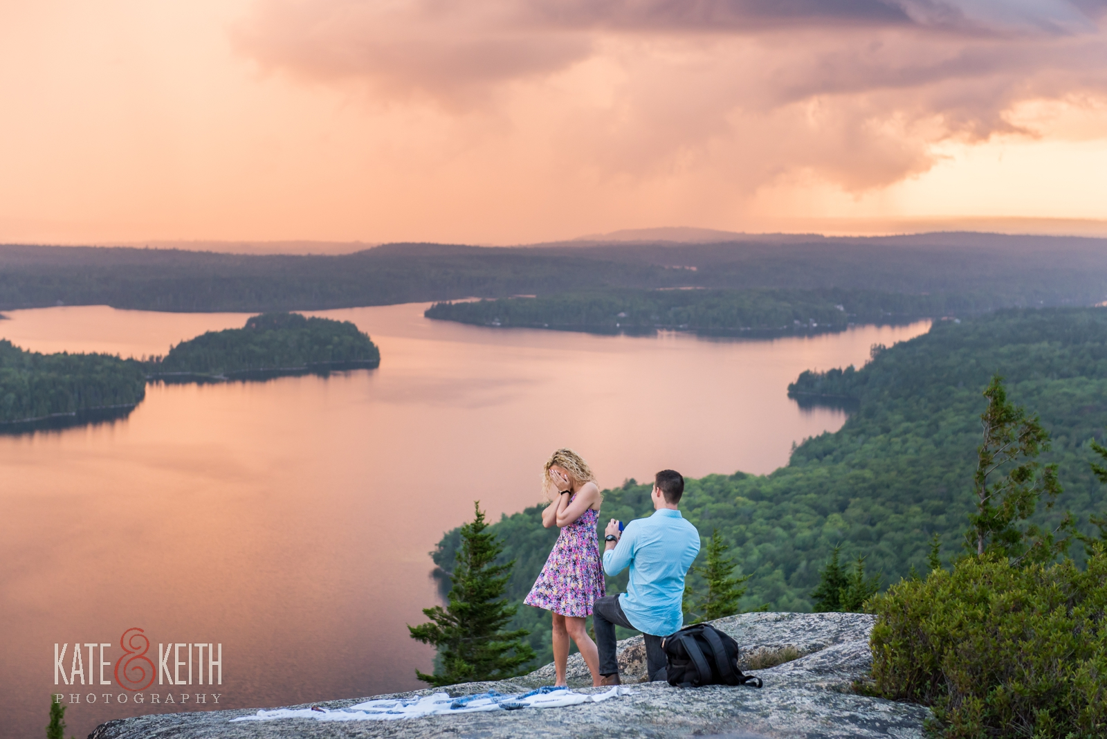 surprise proposal Acadia National Park