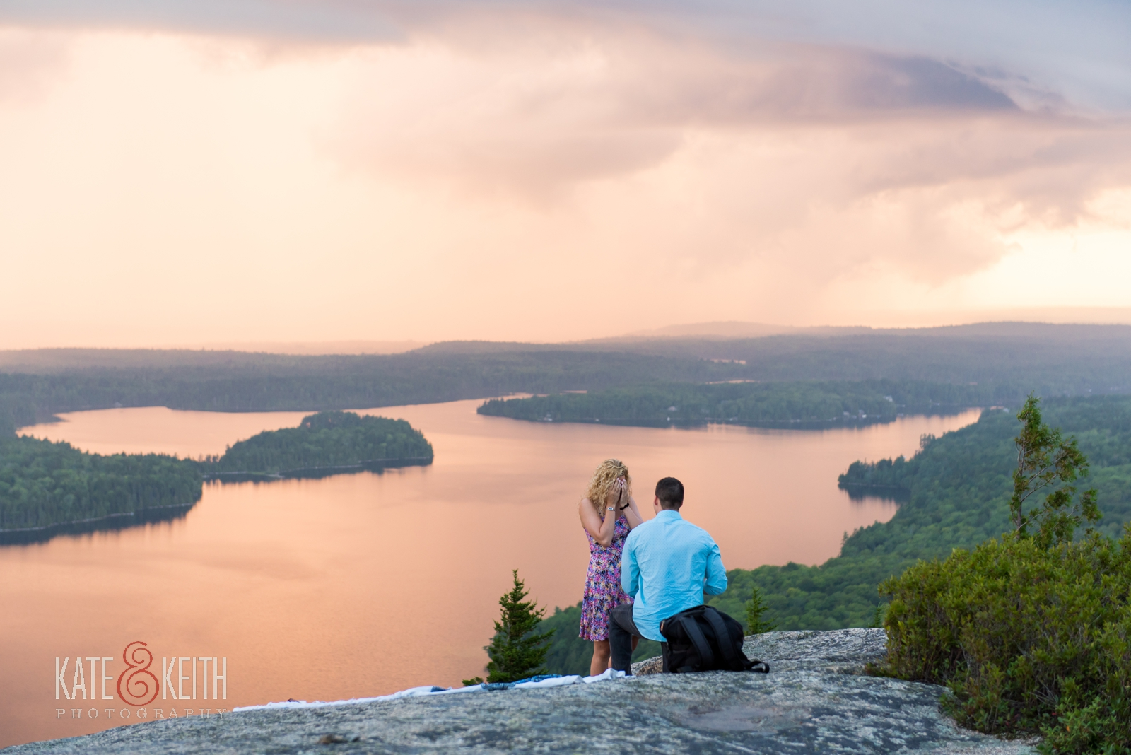surprise engagement Acadia National Park