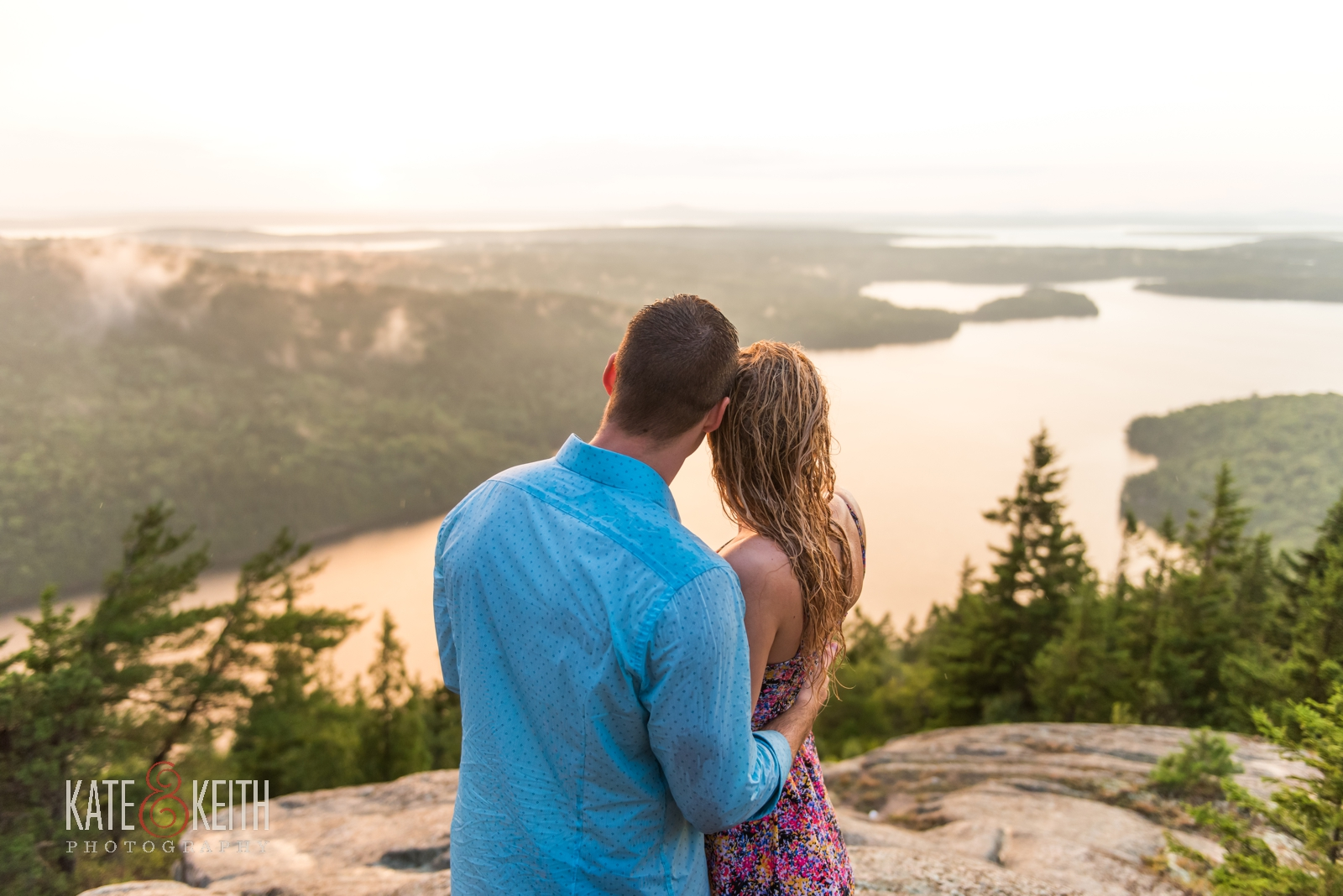 summer rainstorm proposal Acadia National Park