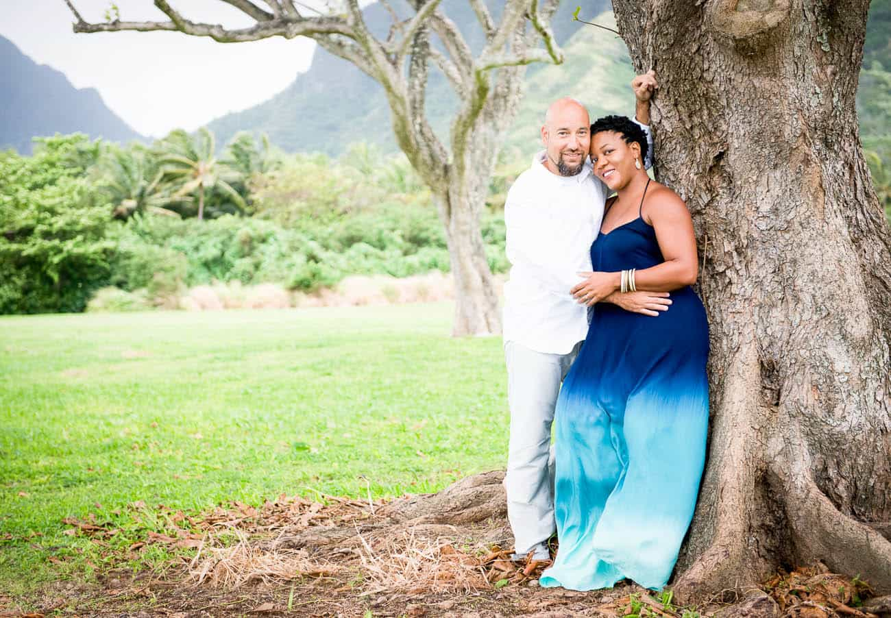 interracial engagement photos hawaii