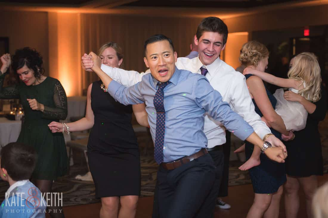 partying at wedding in new york photographer