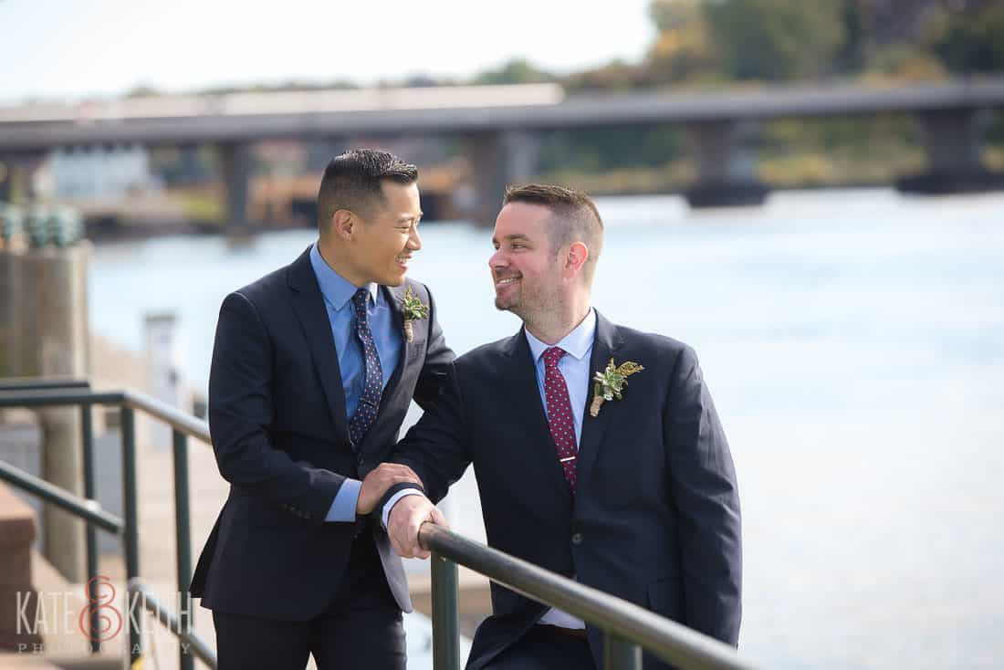 two grooms formal photos