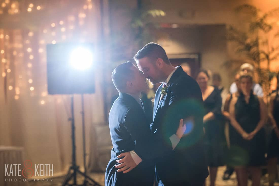 two grooms dancing in new york