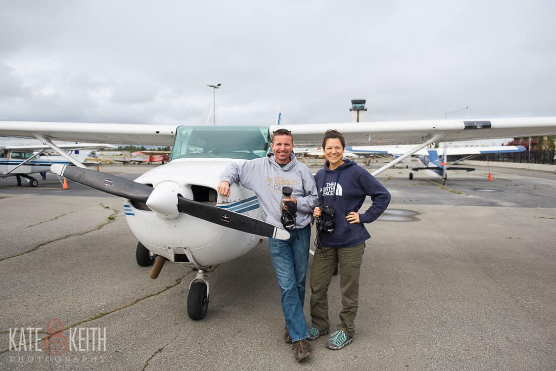 adventure wedding photographers, Alaska, airplane, flight, flying