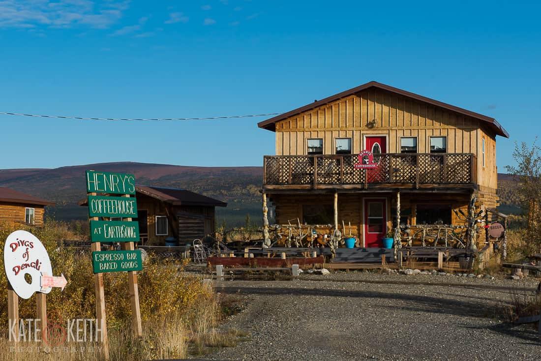 Henrys Coffee House Earthsong Lodge Healy ALaska