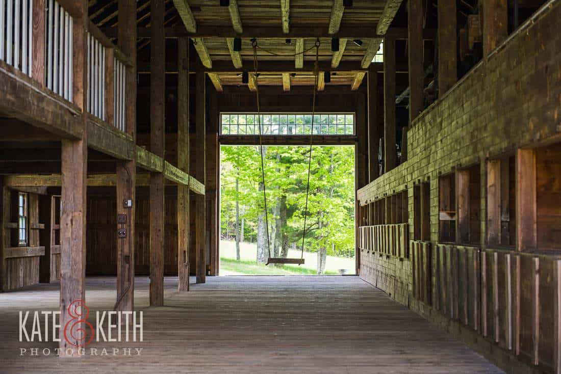 inside barn Moody Mountain Farm
