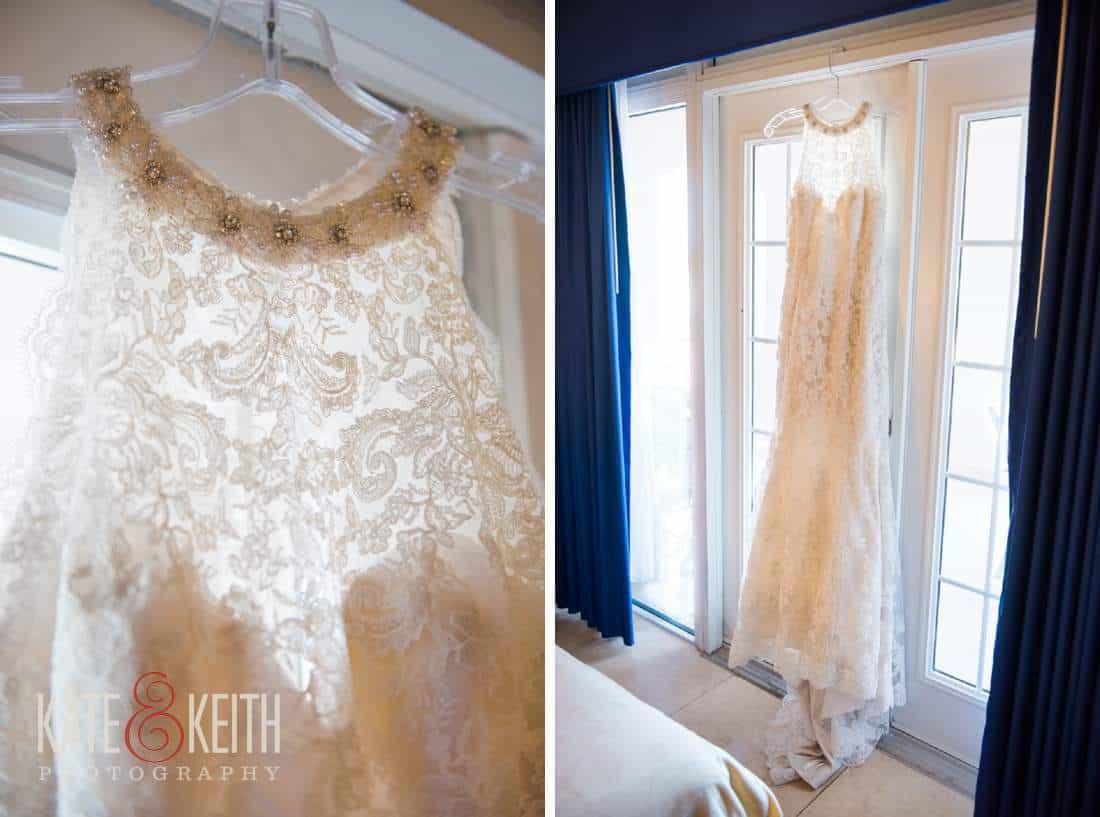 Caribbean Wedding Bride gown dress