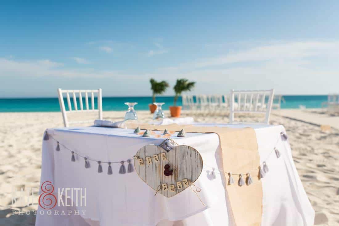 Caribbean beach wedding sweetheart