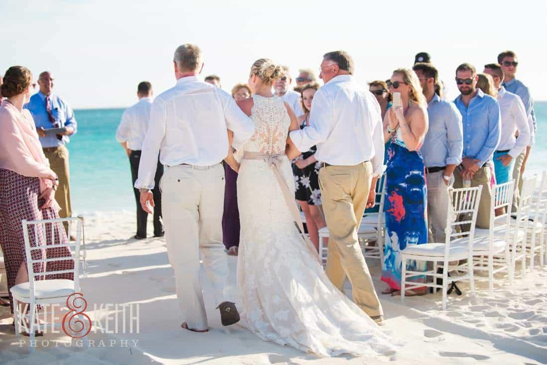Aruba beach wedding ceremony