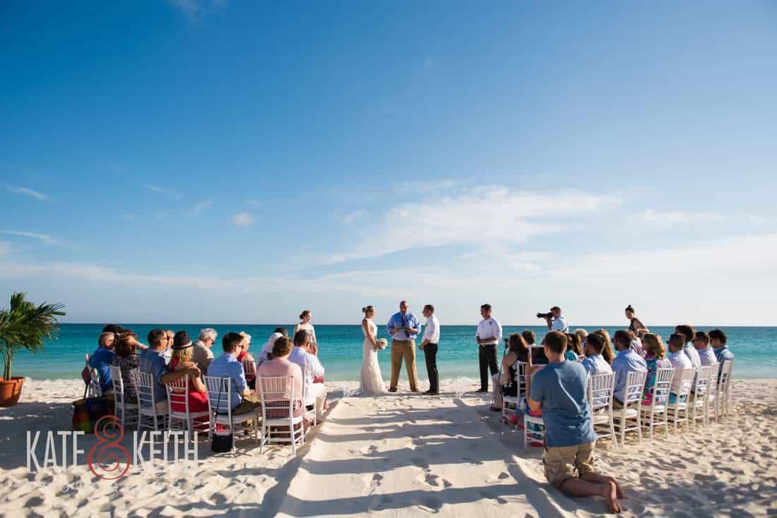 Caribbean beach wedding ceremony