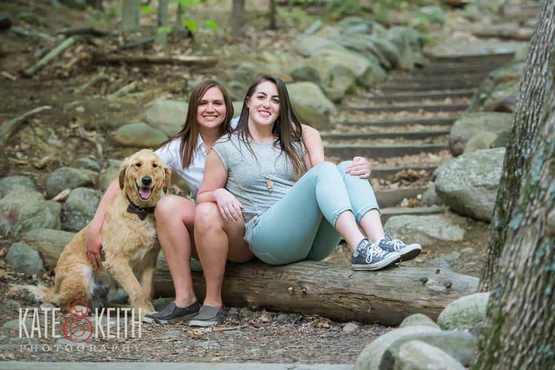 Lesbian Engagement Photo with dog