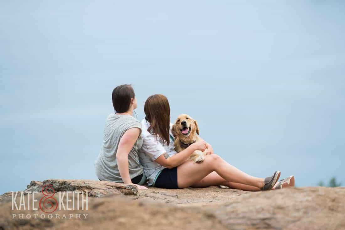 Gay Engagement Photo dog mountain