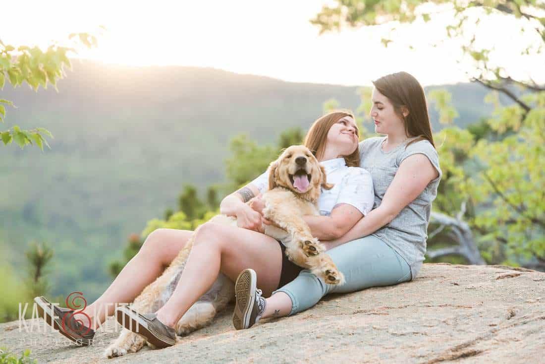 Same Sex engagement portrait New Hampshire