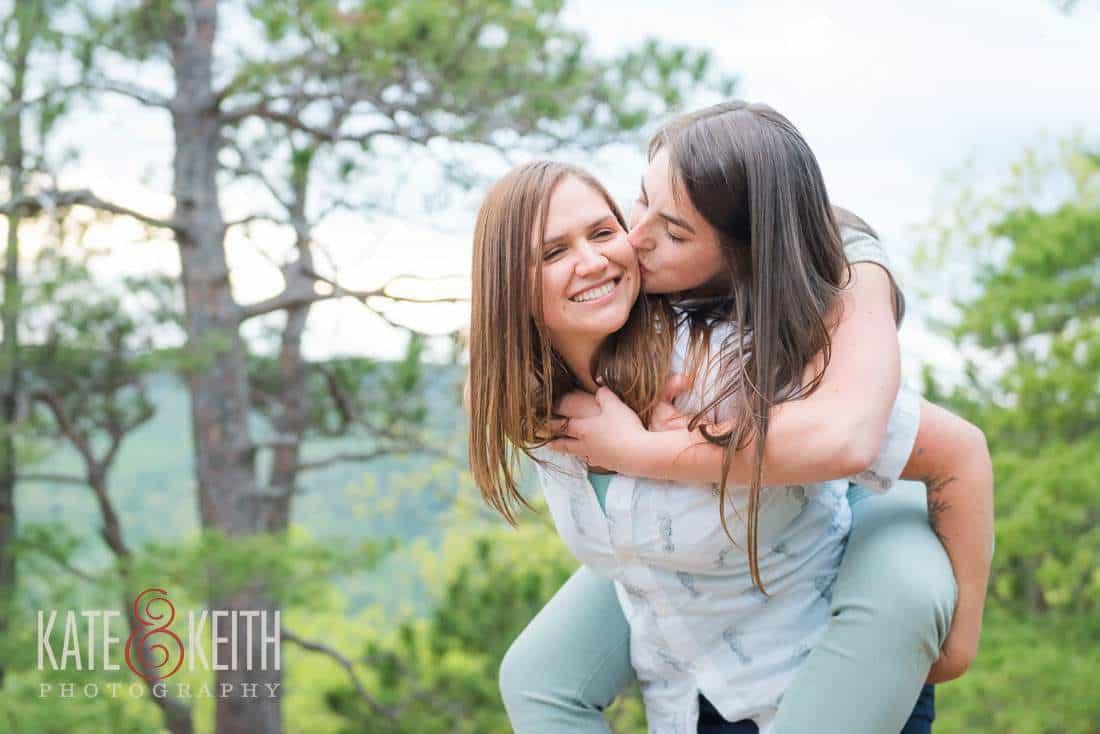 photojournalistic lesbian engagement photos NH kissing