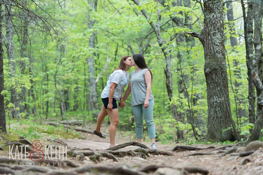 photojournalistic engagement photos NH trails